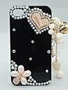 Floral Case Pendentif Perle pour iphone 4 et 4S