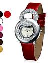 여자의 Fashional는 스타일 아날로그 PU 석영 손목 시계 (분류 된 색깔)