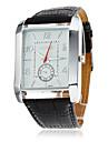 남자의 PU 아날로그 석영 손목 시계 (블랙)