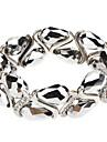 Rhombohedral Process Silver Bracelet
