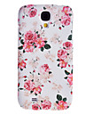 Elegant Design Peony Pattern Relief Hard Case for Samsung Galaxy S4 I9500