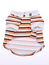Dog Shirt / T-Shirt Orange Dog Clothes Summer Spring/Fall Stripe Casual/Daily
