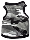 Dog Shirt / T-Shirt Dog Clothes Heart Camouflage Gray Cotton Costume For Pets