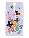 Красочные бабочки Pattern Мягкий чехол для Sony Xperia S LT26i