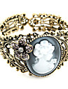 Vintage Lady Anaglyphs Hollow-Out Opening Bracelet Christmas Gifts