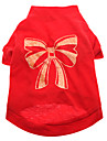 Dog Shirt / T-Shirt Dog Clothes Breathable Bowknot Red Costume For Pets
