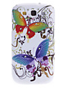 Big Butterfly Pattern Hard Case with Rhinestone for Samsung Galaxy S3 I9300
