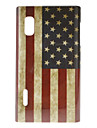 Ретро Флаг США Pattern Жесткий чехол для LG Optimus L5 E612