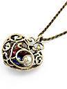Femme Pendentif de collier Colliers Vintage Forme de Coeur Résine Alliage Cœur bijoux de fantaisie Bijoux Pour Quotidien