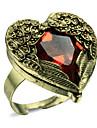 Aile d'ange de cru avec un anneau réglable de coeur rouge