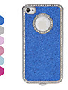 Quadro do diamante cintilante Hard Case Pó para iPhone 4/4S (cores sortidas)