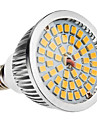 6W 500-600lm E14 LED-spotpaerer MR16 48 LED perler SMD 2835 Varm hvit 100-240V