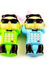 Style musical de jouets de téléphone portable PSY avec son effet éducatif (3 piles AA)