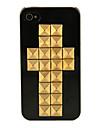Rebites Double Cross Hard Case Preto para iPhone 4/4S