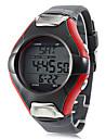 Hombre Reloj Deportivo Cuarzo Despertador Calendario Cronografo Resistente al Agua LCD Banda Gris