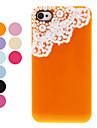 Caso Voltar protetora com perola e laco para iPhone 4/4S (cores sortidas)