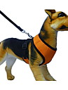 Dog Harness Leash Breathable Soft Textile Red Green Blue Pink Dark Purple