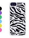 zebra-stripe camadas duplas projeto caso duro para o iPhone 5/5s (cores sortidas)