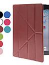 아이 패드 2/3/4위한 카드 구멍과 스탠드 (선택적인 색깔)를 가진 Foldable PU 가죽 가득 차있는 몸 케이스