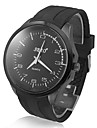 Men's Glossy Highlights Dial Silicone Band Analog Quartz Sport Watch
