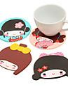 Silicone Japanese Girl Coasters