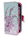 Mini Elegant Flower Pattern PU Leather Case with Stand and Card Slot for Samsung Galaxy S3 I9300