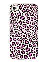Purple Leopard Grain Pattern Back Case for iPhone 4/4S