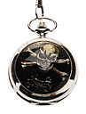 Unisex Casual Alloy Analog Quartz Pocket Watch (Silver) Cool Watch Unique Watch