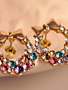 Z&X®  Super flash colorful colorful diamond stud earrings bow