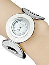 Women's Round Dial Alloy Ring Band Quartz Analog Bracelet Watch (White) Cool Watches Unique Watches Fashion Watch