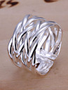 Women\'s Band Ring Unique Design Plaited Open Adjustable Silver Plated Alloy Jewelry Costume Jewelry Wedding Party Gift Daily
