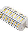 R7S 42x5050SMD 8W 570LM 3000K теплый белый свет Светодиодные лампы кукурузы (85-256V)