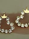 Z&X®  Set auger sweet little love crown fresh joker stud earrings