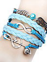 Women\'s Wrap Bracelet Inspirational Handmade Multi Layer Fabric Alloy Infinity Jewelry Christmas Gifts Daily