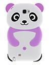 Прекрасные Panda дизайн Мягкий силиконовый защитный чехол для Samsung Galaxy Примечание 2 N7100 (фиолетовый)