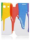 Para Samsung Galaxy Capinhas Case Tampa Flip Estampada Corpo Inteiro Capinha Cores Gradiente Couro PU para Samsung S3