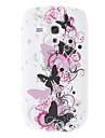 Motif Soft Cover Retour Case Style pour Samsung S7562 batterfly