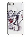 Душераздирающий копания Сердце Pattern ПК Футляр с черной рамкой для iPhone 5/5S