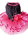 우아한 장식 조각은 애완 동물 개를위한 꽃 (다양한 크기)와 함께 웨딩 드레스를 장식
