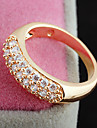 Gold plated bronze zircon Ring J1056