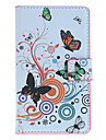 Beatiful Butterflies Pattern Full Body Case with Card Slot for Nokia Lumia 925 (White)