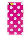 Blanc points ronds TPU souple avec intérieur Protection de mat pour iPhone 5C (couleurs assorties)