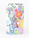 Colorful Flowers Pattern TPU Case for iPod Touch 4 (Multi-Color)
