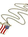 Collier avec pendentif drapeau USA