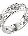 (1 Pc)Classic Women's Silver Platinum-Plated Band Rings(6#)