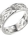 (1 шт) Классический женский серебро платина покрытием полосы кольца (6 #)
