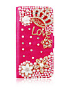 Crown Pearl Leather Full Body Case for iPhone 5/5S(Assorted Color)