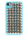 Couvert d\'argent Rivers dur et pointu cas avec la colle pour iPhone 4/4S (couleurs assorties)