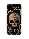 Plein cas de dos de crâne de Zircon pour iPhone 5