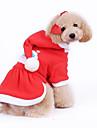 Chien Manteaux Pulls a capuche Vetements pour Chien Noel Nouvel An Rouge Costume Pour les animaux domestiques